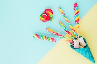 Lollipops in blue cone