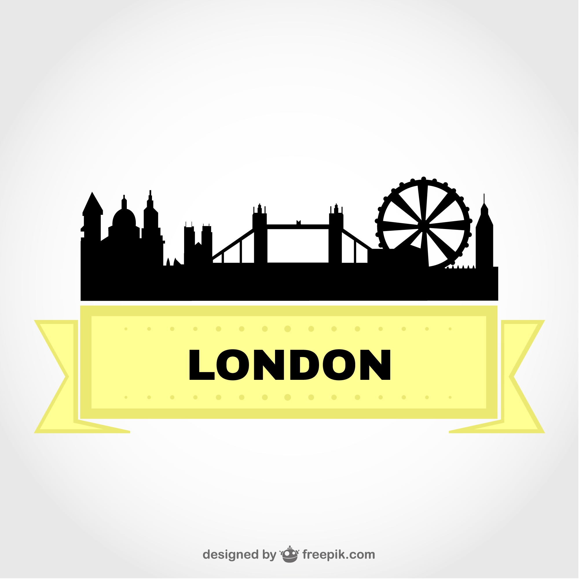 London cityscape free vector