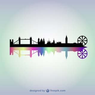 London cityscape vector background