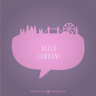 London cityscape vector template