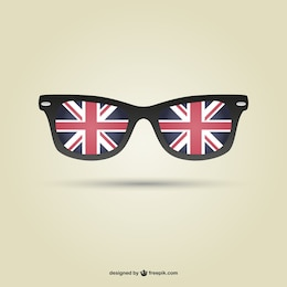 London flag glasses vector