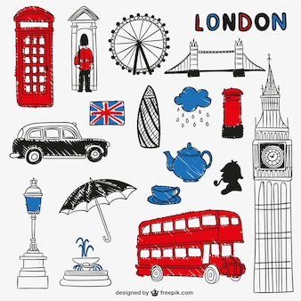 London landmarks and objects