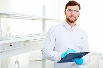 Looking eyeglasses bearded portrait male
