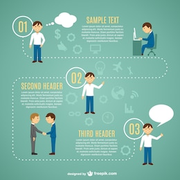 Looking for job infographic template