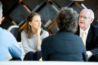 Lounge explaining teaching talking lobby