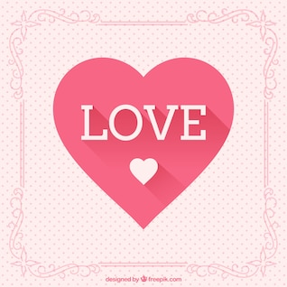Love and heart greeting card
