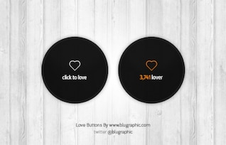 Love Count Buttons