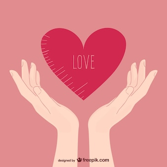 Love illustration with hands