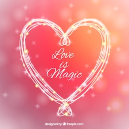 Love is magic greeting card