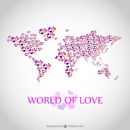 Love map vector illustration