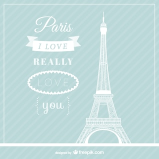 Love Paris vector