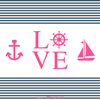 Love typography nautical design