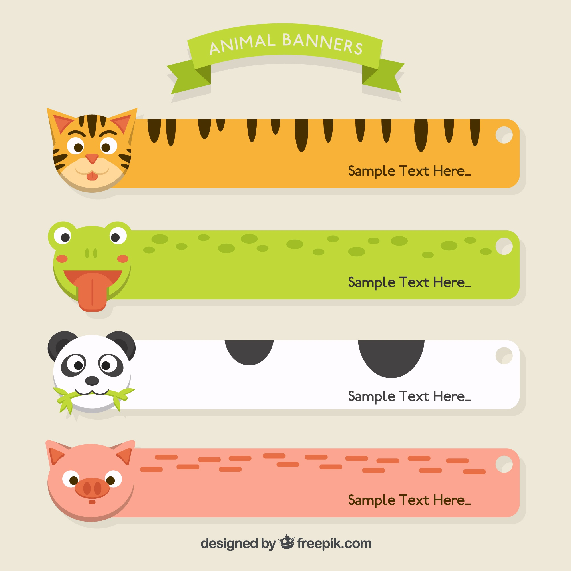 Lovely animal banners