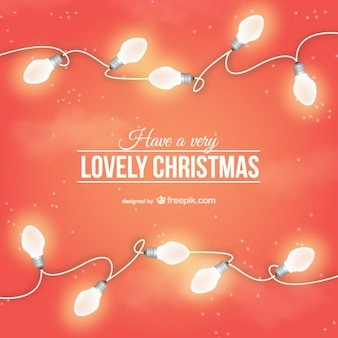 Lovely Christmas card with light bulbs