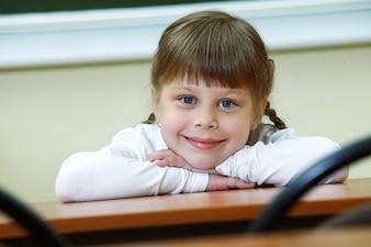Lovely girl in classroom