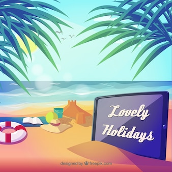 Lovely holidays landscape