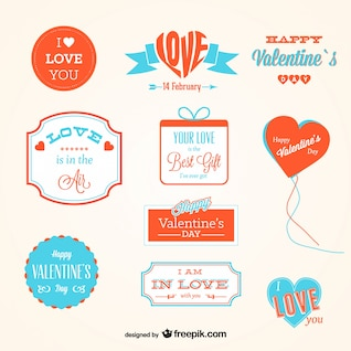 Lovely Valentine's Badges Collection