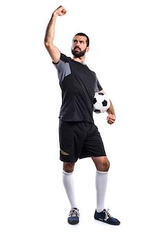 幸運なサッカー選手