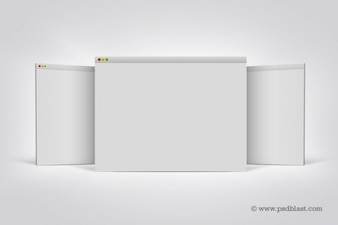 Mac browser template display screen