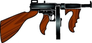 Machine gun cartoon weapon vector