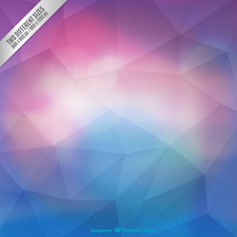 Magenta and cyan polygonal background