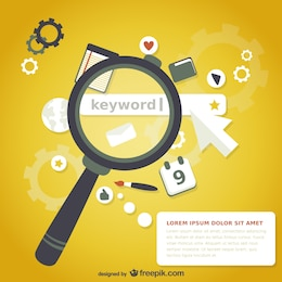 Magnifying glass keyword search