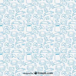 Mail friends vector pattern