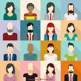 Male and female avatars