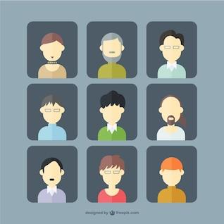 Male avatars set