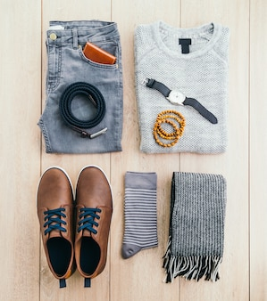 Male belt sweater accessories clothes