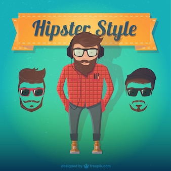 Male hipster style