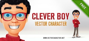 Man character. clever.