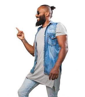 Man dancing and smiling