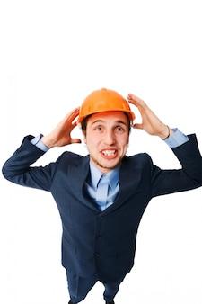 Man wearing hardhat