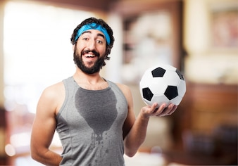Man with a ball