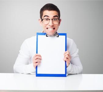 Man with a checklist