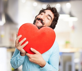 Man with a heart