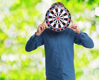 Man with a target on his face