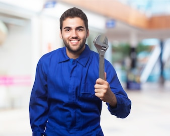 Man with a wrench