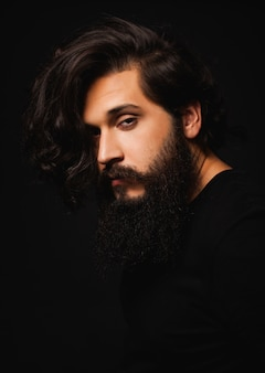 Man with long hair and long beard