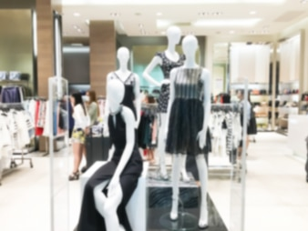 Mannequins with womenswear