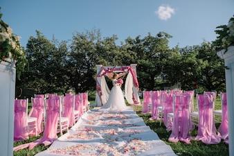 Many atmospheric dress pink charming