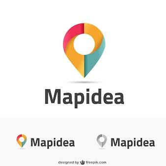 Map inspired logos