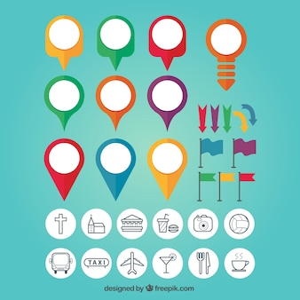 Map Pin Colourful Set