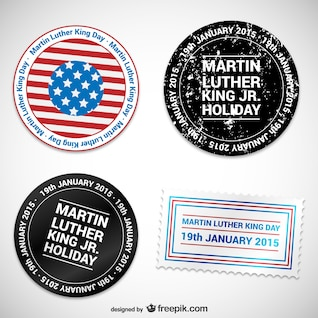 Martin Luther King Day badges