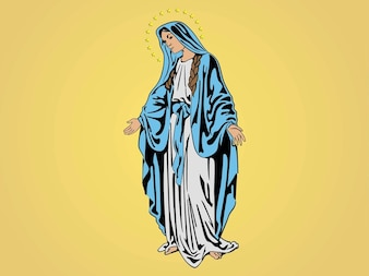 Mary mother of jesus vector