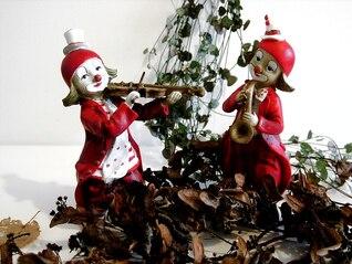 mask music figures make up clowns