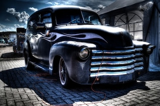 Matte black truck