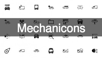 Mechanic and motor icons