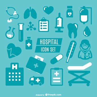 Medical simple icons graphics